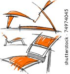 sketches of furniture | Shutterstock .eps vector #74974045