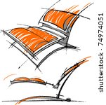 sketches of furniture | Shutterstock .eps vector #74974051