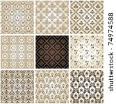 seamless vintage backgrounds... | Shutterstock .eps vector #74974588