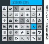 big industry icon set | Shutterstock .eps vector #749746381
