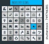 big industry icon set | Shutterstock .eps vector #749746381
