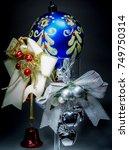 christmas decorations | Shutterstock . vector #749750314