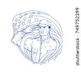 ukiyo e or ukiyo style...   Shutterstock .eps vector #749752399
