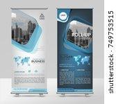 business roll up design... | Shutterstock .eps vector #749753515
