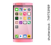 pink smartphone  mobile phone...