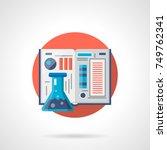 chemistry textbook  detailed... | Shutterstock .eps vector #749762341