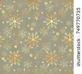gold snowflakes seamless...