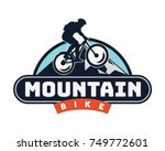 vintage downhill bike logo... | Shutterstock .eps vector #749772601