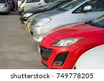 cars in the parking lot | Shutterstock . vector #749778205