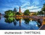 panorama view of tran quoc... | Shutterstock . vector #749778241