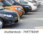 cars in the parking lot | Shutterstock . vector #749778349