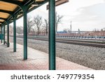 empty above ground outdoor... | Shutterstock . vector #749779354