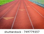outdoor track and field race... | Shutterstock . vector #749779357