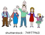 big happy family | Shutterstock . vector #74977963