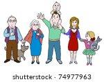big happy family | Shutterstock . vector #74977963
