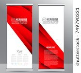 red roll up business brochure... | Shutterstock .eps vector #749790331