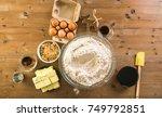 mixing dough for double batch... | Shutterstock . vector #749792851