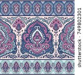 indian floral paisley seamless... | Shutterstock .eps vector #749802301