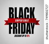 vector illustration of black...   Shutterstock .eps vector #749802727