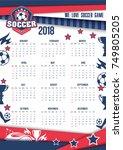 soccer sport or football game... | Shutterstock .eps vector #749805205