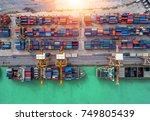 logistics and transportation of ...   Shutterstock . vector #749805439