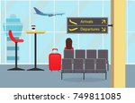 waiting room at the airport... | Shutterstock .eps vector #749811085