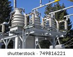 part of high voltage substation ...   Shutterstock . vector #749816221