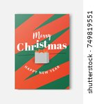 merry christmas and happy new... | Shutterstock .eps vector #749819551