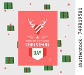 merry christmas and happy new... | Shutterstock .eps vector #749819581