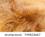 textures red fox fur. red fox... | Shutterstock . vector #749823667