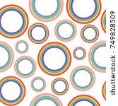 different pastel rainbow... | Shutterstock .eps vector #749828509