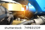 auto mechanic is changing oil... | Shutterstock . vector #749831539