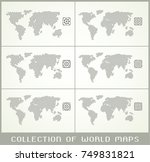 collection of world maps ... | Shutterstock .eps vector #749831821