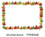 autumn leafs made a color... | Shutterstock . vector #7498468