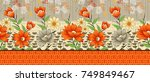 Seamless Digital Textile Flora...