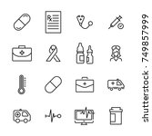 modern outline style medical... | Shutterstock .eps vector #749857999