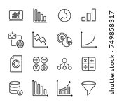 premium set of data analytics... | Shutterstock .eps vector #749858317