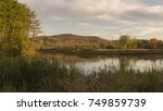 a scenic autumn view of a swamp ...   Shutterstock . vector #749859739