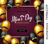 international men's day or... | Shutterstock .eps vector #749862259
