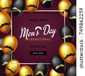 international men's day or... | Shutterstock .eps vector #749862259