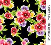 abstract elegance seamless... | Shutterstock .eps vector #749862697