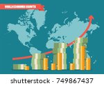 world economic growth... | Shutterstock .eps vector #749867437