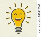 Shining Yellow Light Bulb...