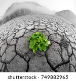 dry land of the reservoir in...   Shutterstock . vector #749882965