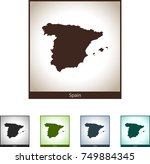 map of spain | Shutterstock .eps vector #749884345