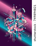 futuristic style abstract... | Shutterstock .eps vector #749894821