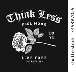 slogan graphic with rose... | Shutterstock .eps vector #749897059