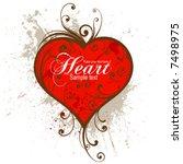 heart. grunge elements on... | Shutterstock .eps vector #7498975