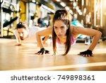 active healthy beautiful woman... | Shutterstock . vector #749898361