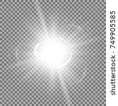 star burst with sparks  light...   Shutterstock .eps vector #749905585